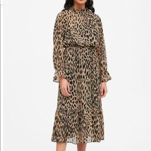 Banana Republic Leopard Print Sheer Midi Dress